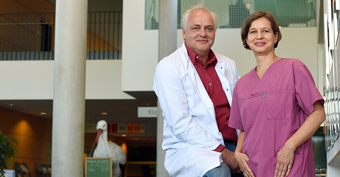 Assistant Professor Ralf Dechend, MD, and Susann Knöfel help pregnant women with hypertension