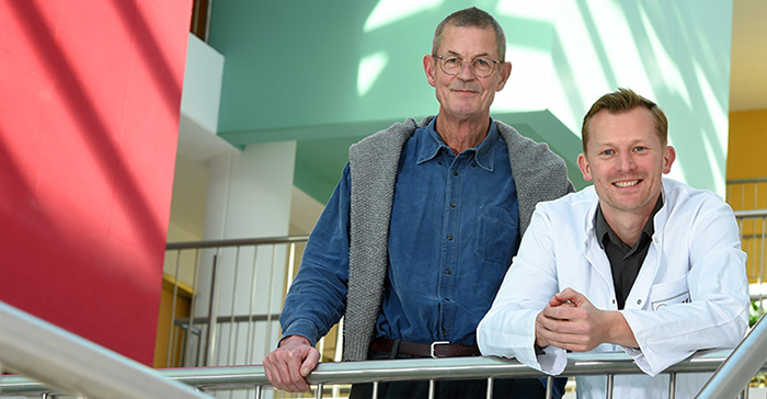 Professor Thomas Blankenstein and Dr. Martin Vaegler are developing a new cancer treatment